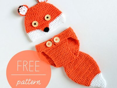 Baby Hat and Diaper Cover – Baby Fox