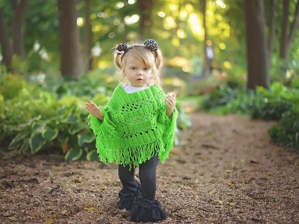 Lovely Lace Baby Poncho