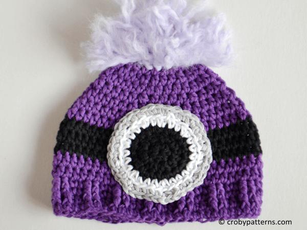 Evil Minion Inspired Crochet Baby Hat