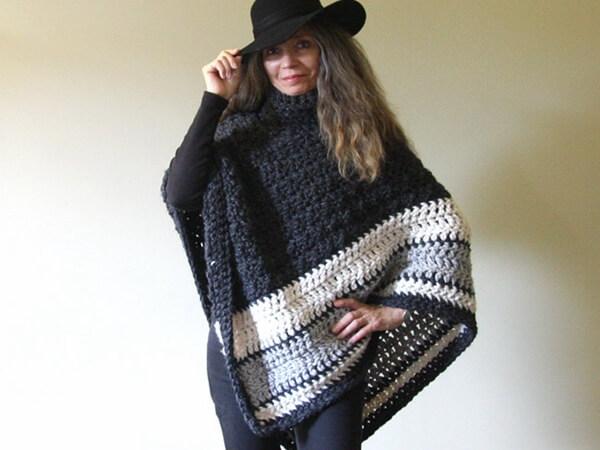 Chunky Crochet Poncho