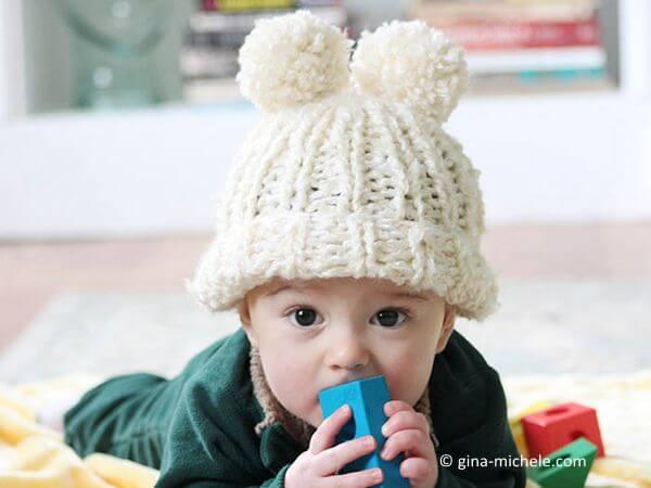 Baby Snow Angel Hat