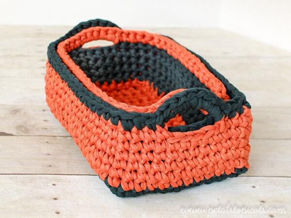 Rectangular Crochet Basket Pattern