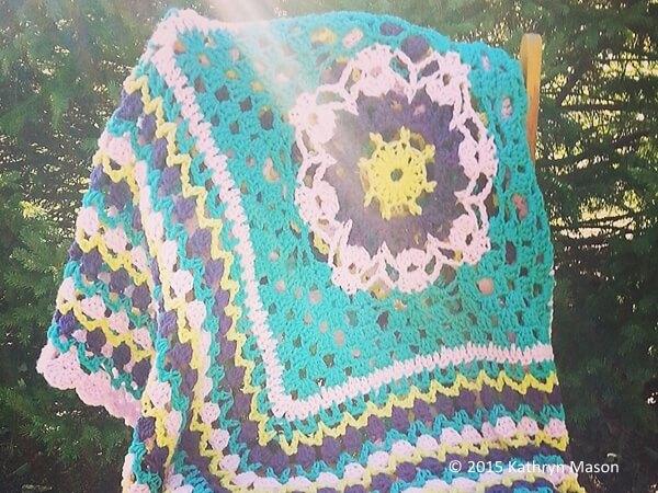 In Grandmother's Garden Blanket