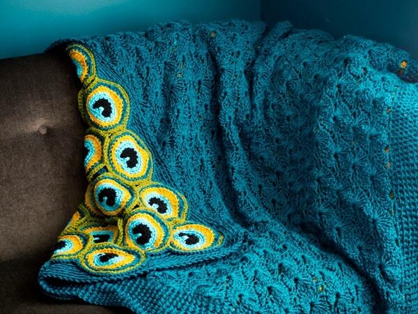 Peacock Pretty Blanket