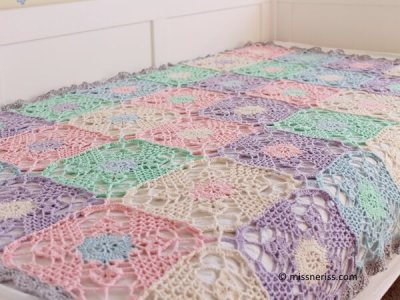 Rustic Lace Square Blanket