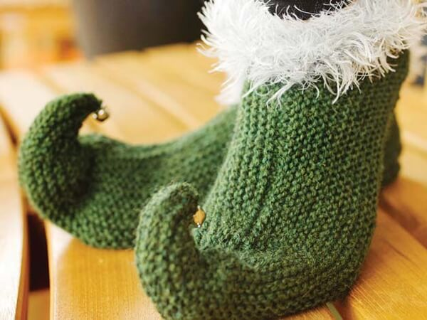 Knitted Elf Slippers