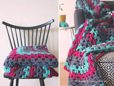 Make a Giant Granny Square Blanket