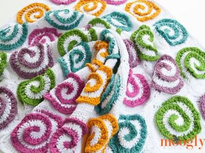 Modern Rose Afghan Blanket