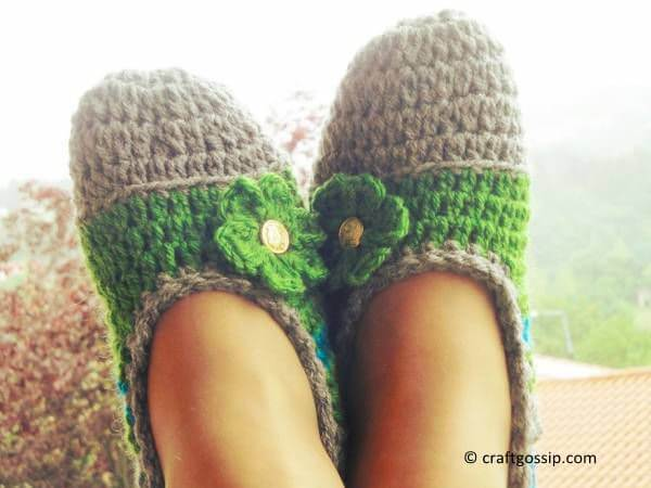 Mommy Flats Crochet Slippers