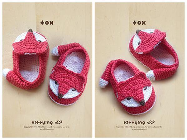 Fox Baby Booties