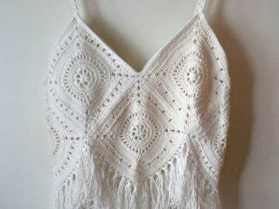 Women's crochet Top with Fringes