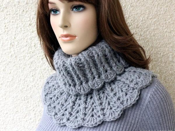 Chunky Crochet Neck Warmer Pattern