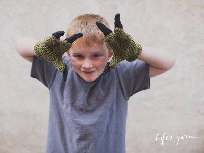 Dinosaur Raptor Inspired 3 Finger Gloves