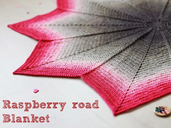Raspberry road blanket