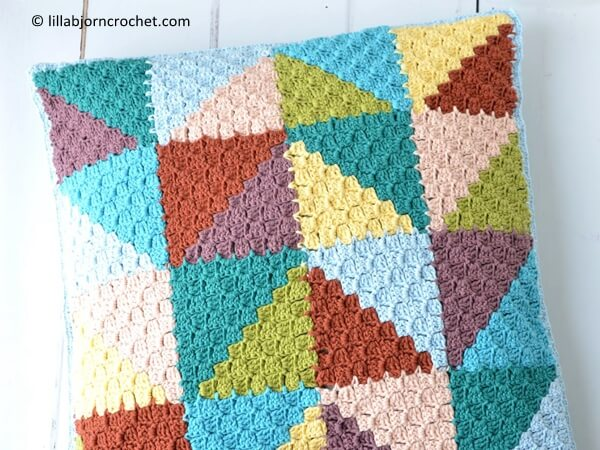 Pastel Triangles Pillow