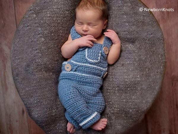 Baby Denim Style Overalls