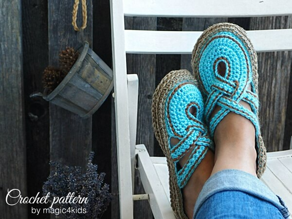 Women Slippers with Rope Soles
