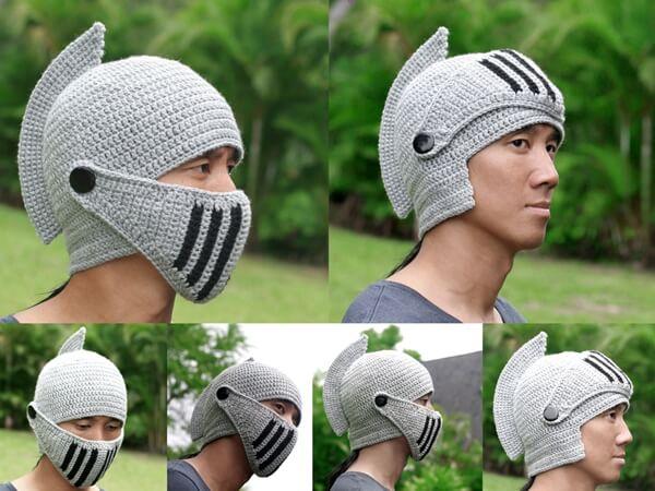 Knight Helmet Hat with Visor