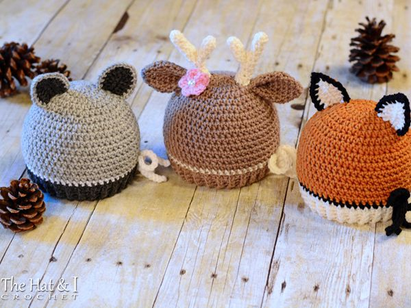 Forest Friends - Raccoon, Deer, and Fox Hat