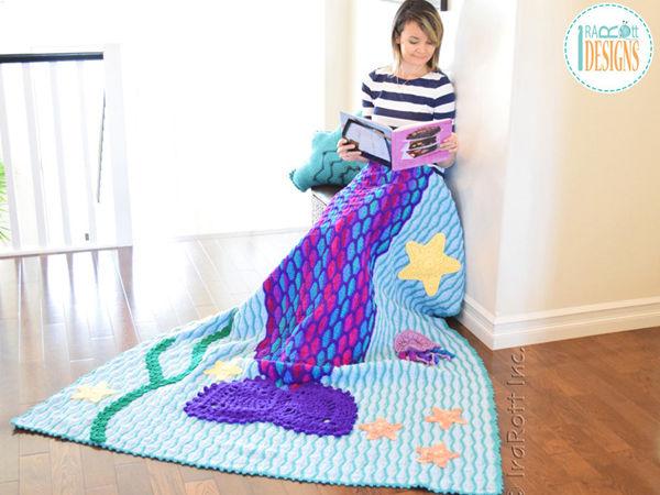 Mica the Mermaid and Jellyfish Blanket