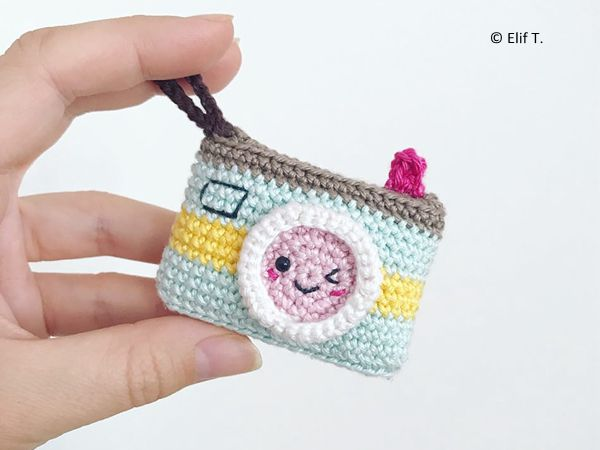 Kawaii Camera Keychain