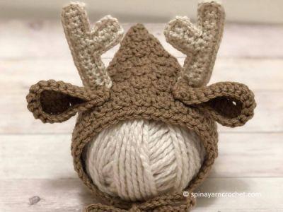 Newborn Deer Bonnet