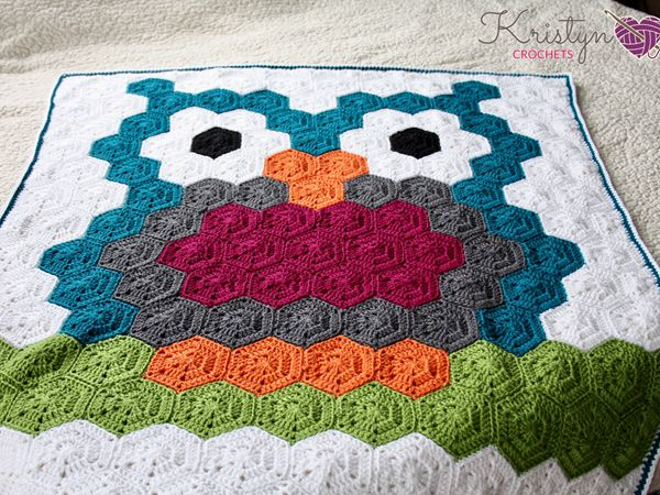 Night Owl Crochet Blanket