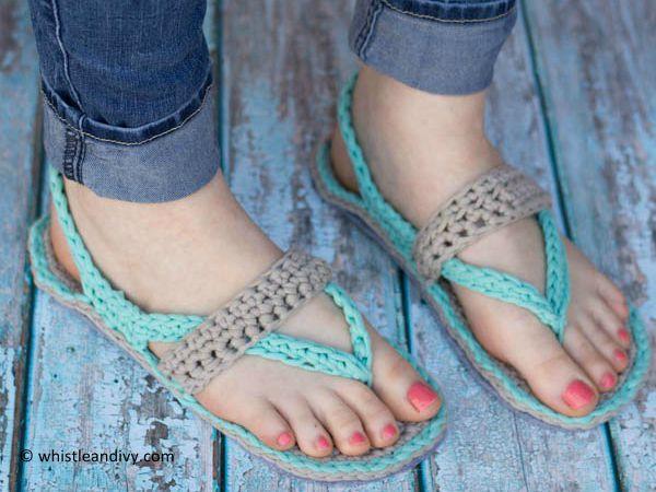 Women's Crochet Flip-Flops
