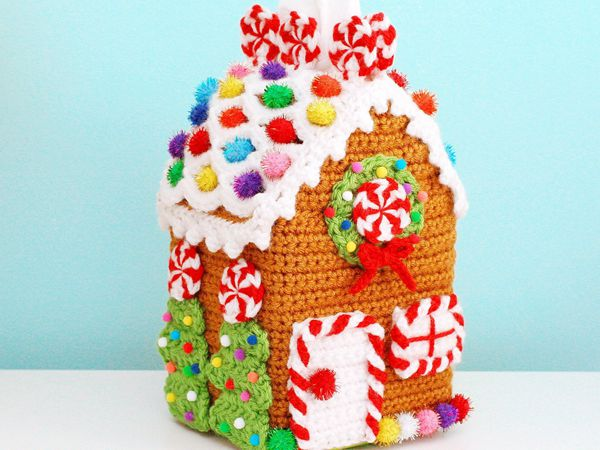 Gingerbread House Tissue Box Cozy