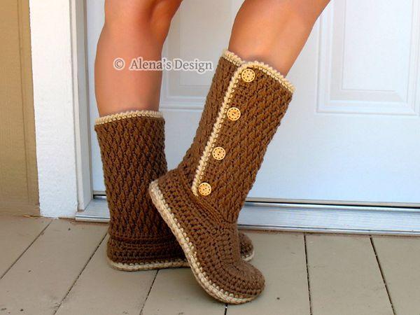 Buttoned Women's Boots