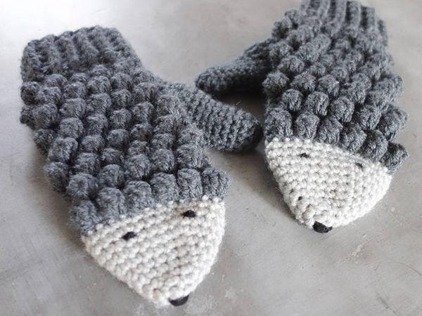 Crochet Hedgehog Mittens