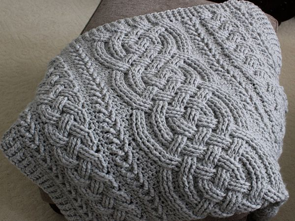 Irish Lullaby Cable Braided Blanket