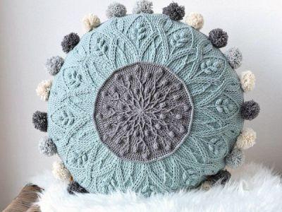 Sakura Cabled Crochet Pillow PATTERN