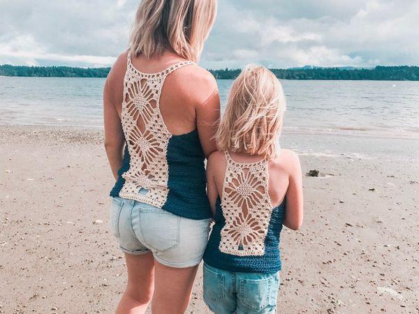 crochet Lacy Lotus Tank Top free pattern