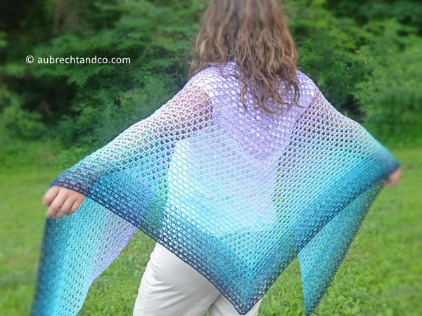 crochet Summer Path Shawl free pattern