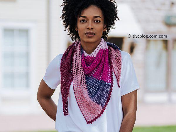 crochet Carillon Shawl free pattern