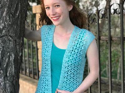 crochet Summer Breeze Vest free pattern