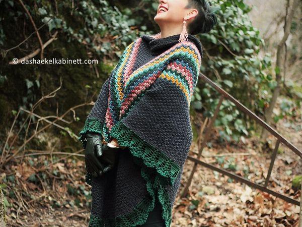crochet Kapuze Poncho free pattern