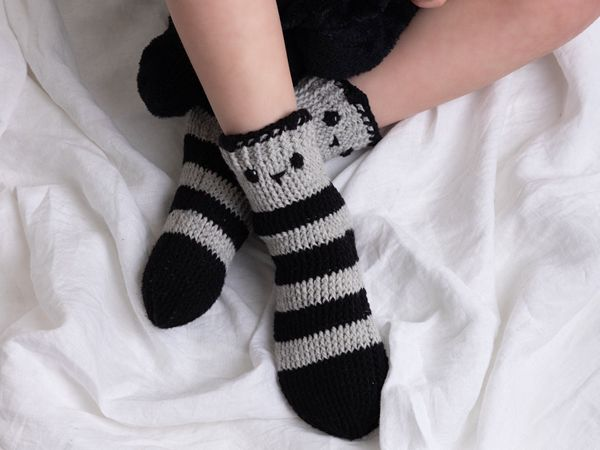 crochet Little Bear Socks easy pattern