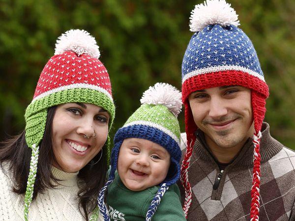 crochet the Family Fair Isle Hat free pattern