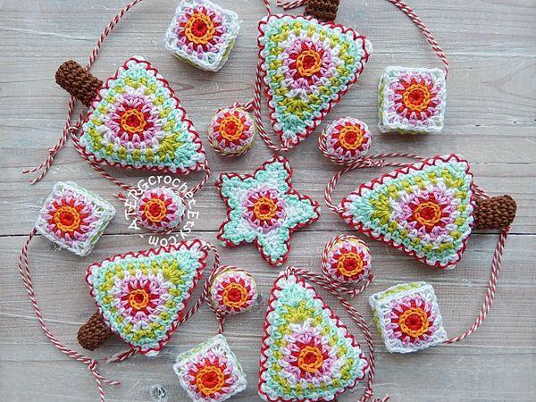 crochet Christmas Set easy pattern