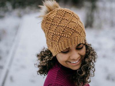 crochet Diamonds Beanie free pattern