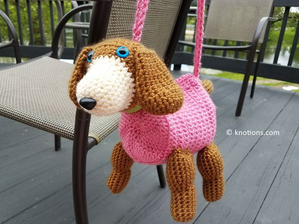 crochet Doggy Purse free pattern