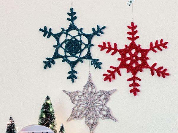 GIANT CROCHET SNOWFLAKE ORNAMENT free pattern