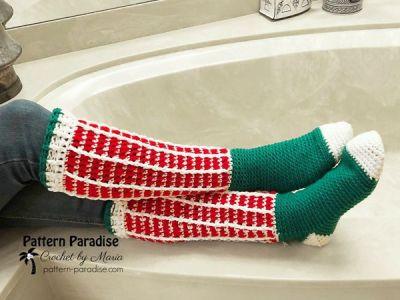 crochet Jolly Fun Socks free pattern