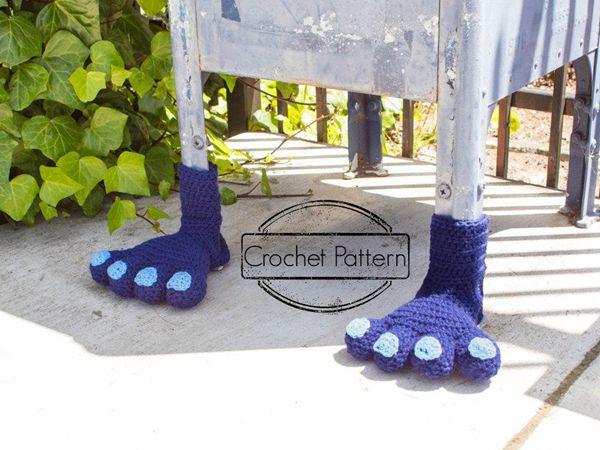 crochet Monster Feet easy pattern
