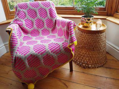 crochet Neon Fizz Throw easy pattern