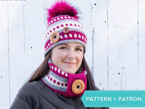 Piko - Crochet Hat Cowl easy pattern