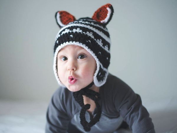 crochet My Little Fox Baby Hat easy pattern