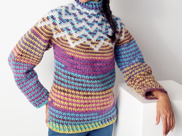 crochet ZAG SWEATER free pattern